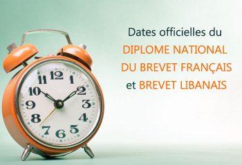 date DNB francais et libanais